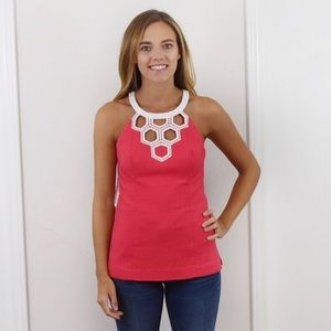 Lilly Pulitzer Annabelle Cut-Out Top! Size 2